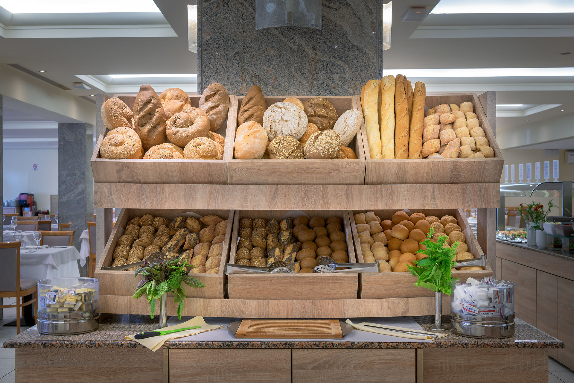Artemis Main Restaurant Bread Buffet