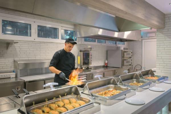 Artemis Main Restaurant Show Cooking